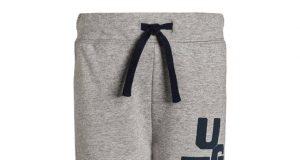 Bawełniane spodnie dziecięce szare