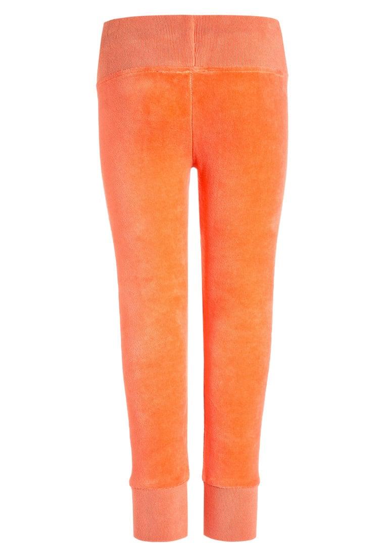 Welurowe spodnie dresowe dla dziewczynki pomarańczowe