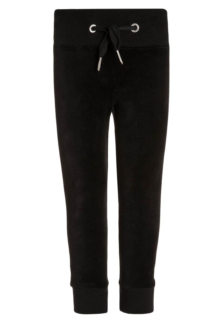 Dziecięce welurowe spodnie dresowe dla dziewczynki czarne
