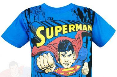 Dziecięca Koszulka superman niebieska