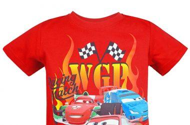 Modne ubranka dziecięce koszulka Auta Cars