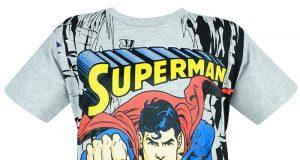 T shirt superman dziecięca koszulka szara