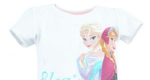 """Dziecięca koszulka Frozen Kraina Lodu """"Elsa & Anna"""" biała"""