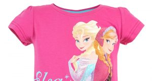 """Dziecięca koszulka z Frozen Kraina Lodu """"Elsa & Anna"""" różowa"""