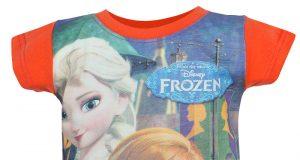 """Dziecięce koszulki Frozen Kraina Lodu """"Elsa & Anna"""" pomarańczowa"""