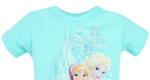 """Dziecięce koszulki z Frozen Kraina Lodu """"Elsa & Anna"""" niebieska"""