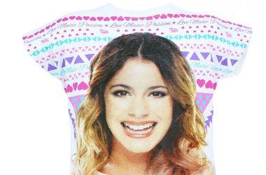 """Dziewczęca koszulka Violetta """"Love Music"""" biała"""