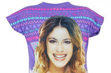 "Dziewczęca koszulka Violetta ""Love Music"" fioletowa"