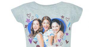 """Dziewczęce koszulki Violetty """"My Music"""" szara"""