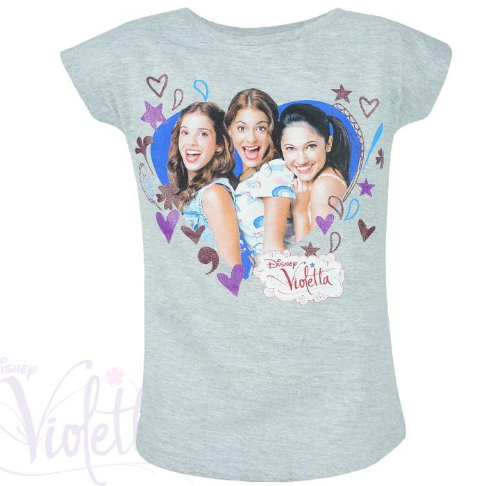 """Dziewczęce koszulki Violetty """"My Band"""" szara"""