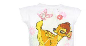 Dziewczęca koszulka Bambi Disney biała