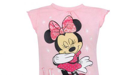 Dziewczęca koszulka Minnie Mouse jasny róż