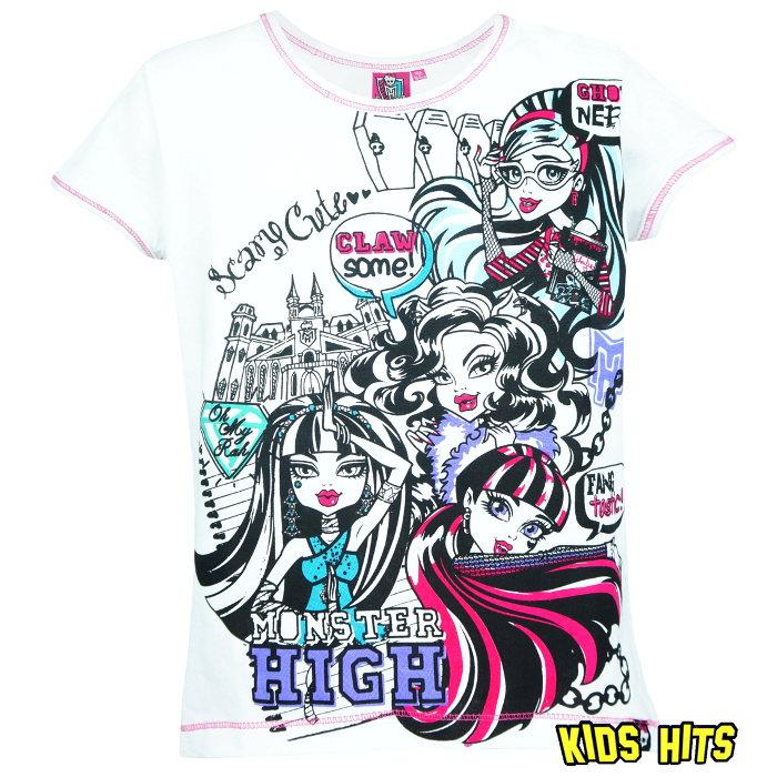 "Koszulka monster high ""Scary"" biała"
