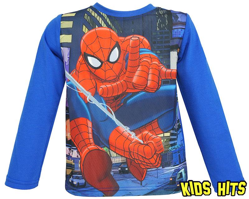 Bluzka spiderman dla chłopca niebieska