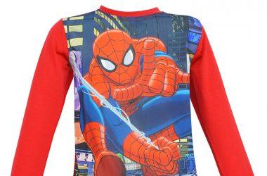 Spiderman bluzka dla chłopca czerwona