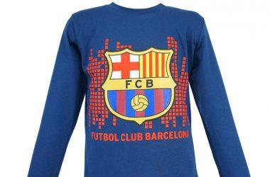 """Dziecięca bluzka barcelona """"Futbol Club"""" niebieska"""
