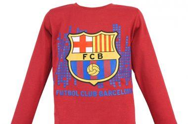 """Dziecięca bluzka barcelona """"Futbol Club"""" czerwona"""