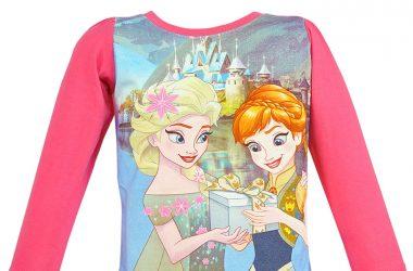 Dziecięca bluzka Frozen Kraina Lodu Elsa Anna różowa