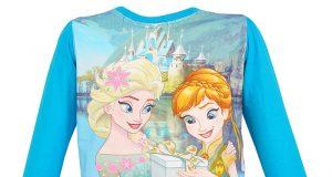 Dziecięca bluzka Frozen Kraina Lodu Elsa Anna niebieska