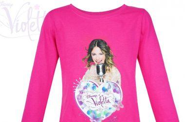 Dziecięce bluzki z Violetty długi rękaw różowa
