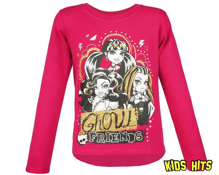 Dziecięca bluzka Monster High ciemny róż