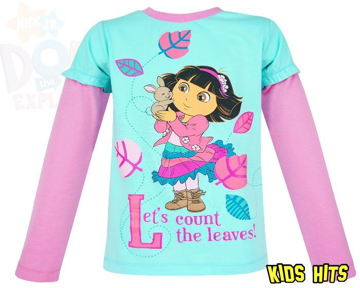 Dziecięca bluzka Dora niebieska