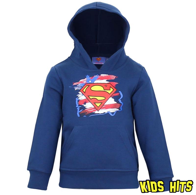Dziecięca bluza superman z kapturem granatowa