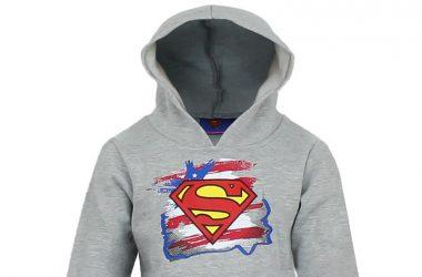 Dziecięca bluza Superman z kapturem szara