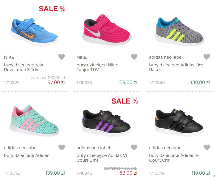 Dla dziewczynki – markowe buty sportowe dla dzieci