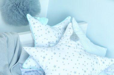 Dla dziecka poduszka w kształcie gwiazdy