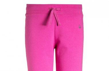 Bawełniane spodnie dresowe dla dziewczynki