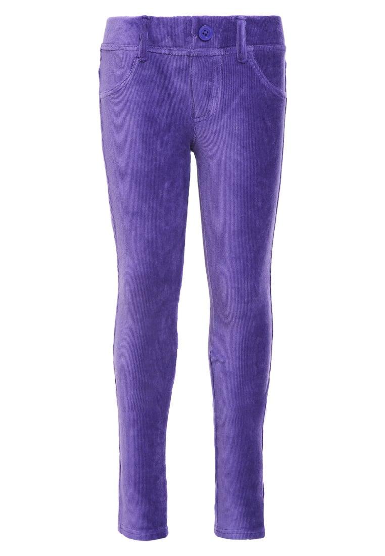 Sztruksowe spodnie dziecięce dla dziewczynki fioletowe