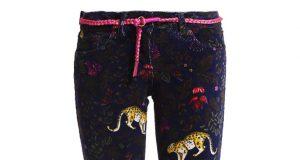 Spodnie dla dziewczynki z gepardem