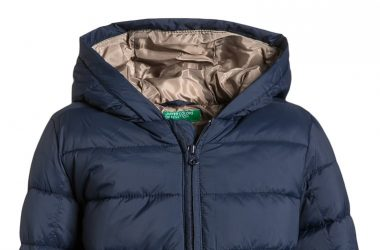 Ciepła zimowa kurtka chłopięca granatowa