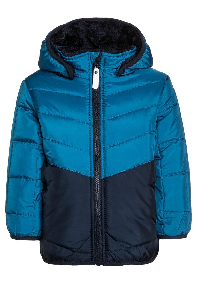 Ciepła kurtka zimowa chłopięca niebieska