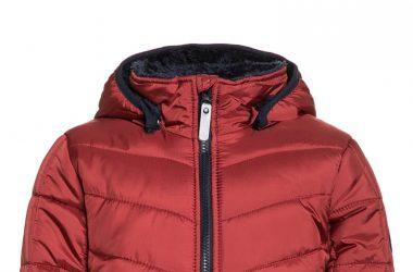 Ciepła kurtka zimowa chłopięca czerwona