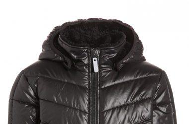 Ciepła kurtka zimowa chłopięca czarna