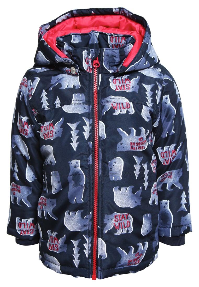 Dziecięca zimowa kurtka z kapturem dla chłopca