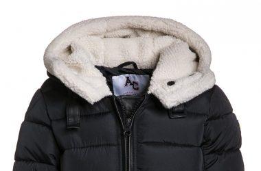 Ocieplana kurtka zimowa dziewczęca z kożuszkiem