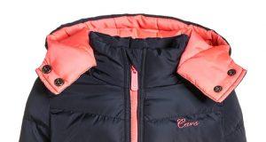 Ocieplana zimowa kurtka dla dziewczynki granatowa
