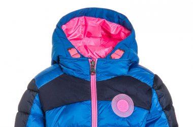 Ciepła kurtka na zimę dla dziewczynki niebieska