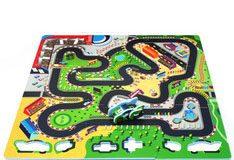 Duża mata piankowa dla dzieci tor wyścigowy