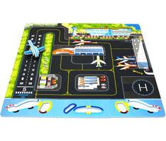 Duża piankowa mata dla dzieci lotnisko