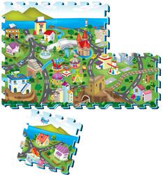Puzzle piankowe mata dla dzieci wesołe miasteczko