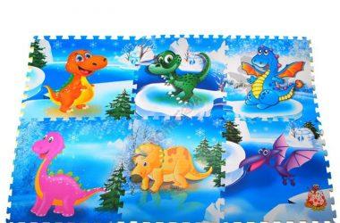 Puzzle piankowe duże - dinozaury zabawki dla dzieci