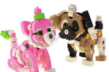 Klocki piankowe dla dzieci kotek i piesek