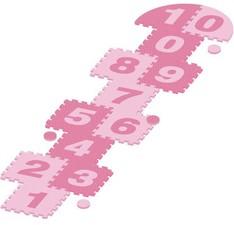 Piankowe puzzle gra w klasy różowe