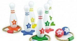 2w1 Gra rzucanie koła i kręgle dla dzieci