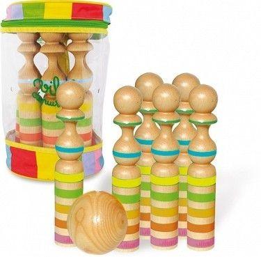 Drewniane kręgle dla dzieci