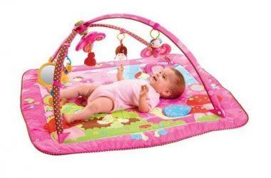 Różowa mata edukacyjna dla niemowląt
